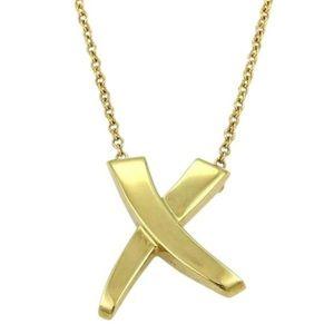 "0fca248c8 Tiffany & Co. Jewelry - Paloma Picasso x Tiffany 18k ""GRAFFITI KISS"" CHAIN"
